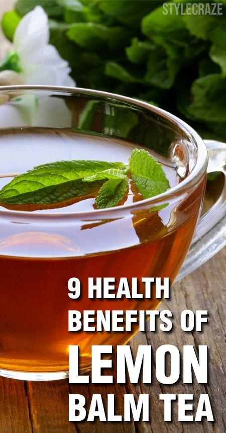9 Avantages pour la santé incroyable de thé de mélisse