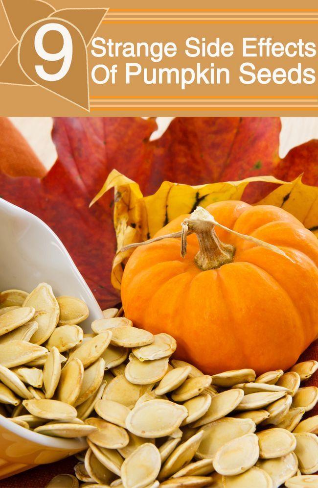 9 Effets secondaires étranges de graines de citrouille