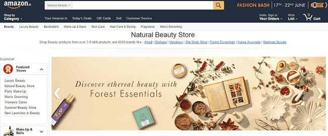 Amazon beauté naturelle: examen, courriers