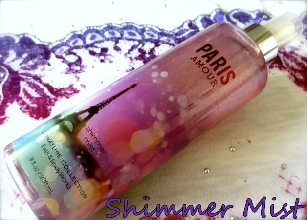Bath and Body Works paris amour revue de brouillard chatoyant