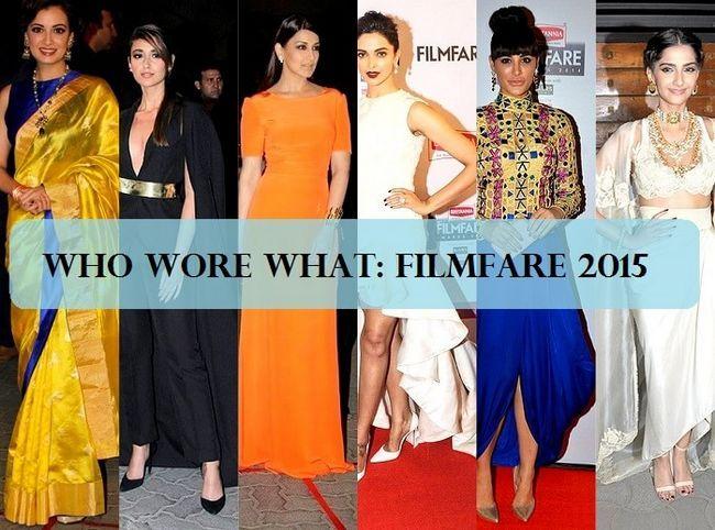 Mieux habillé et le plus mal habillé: prix de Filmfare 2015
