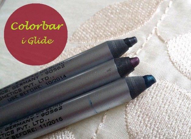 Colorbar i-glide crayons pour les yeux des critiques et nuanciers: dragueur Turq, Prunella, mine de charbon