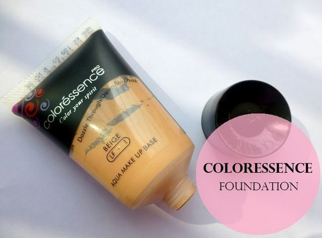 Aqua maquillage Coloressence fondation de base beige: examen et nuanciers