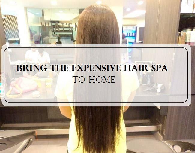 Spa cheveux à la maison diy en 4 étapes faciles: pour les cheveux secs, hairfall