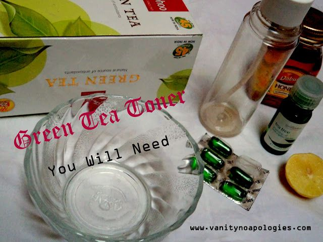 Faites-le vous-même: toner de thé vert (étape par étape tutoriel image)