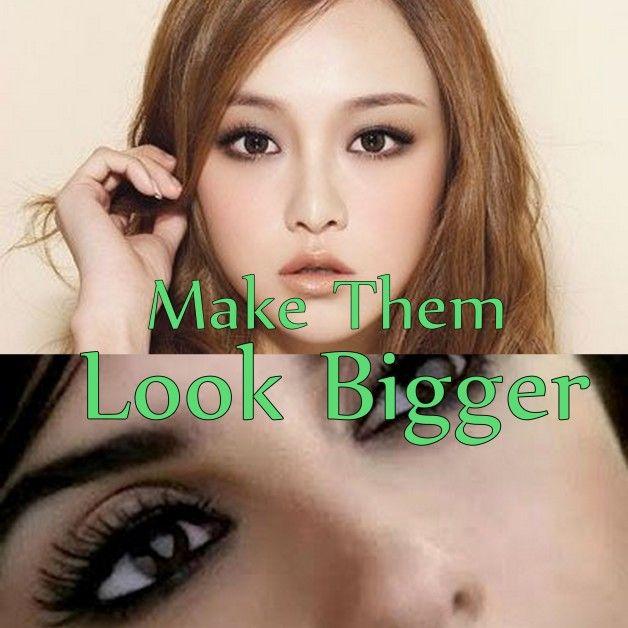 Maquillage des yeux pour les petits yeux: leur donner un aspect plus