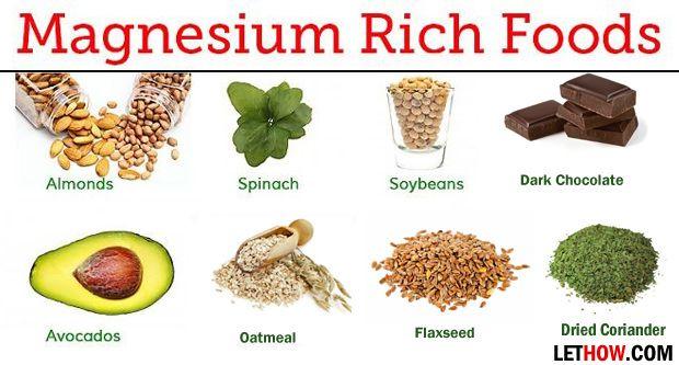 Les aliments riches en magnésium (riche source de magnésium)