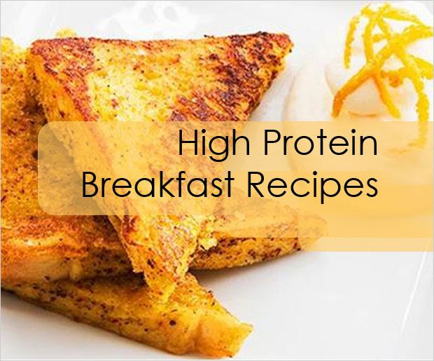 Recettes de petit-déjeuner en protéines