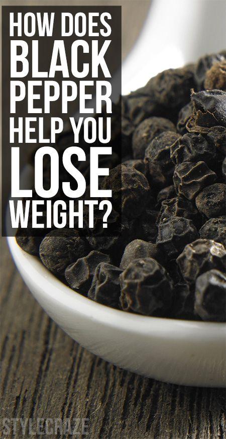 Comment poivre noir vous aider à perdre du poids?