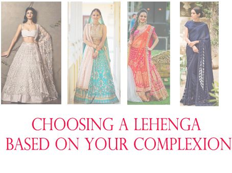 Comment choisir la couleur de votre mariage lehenga selon teint?