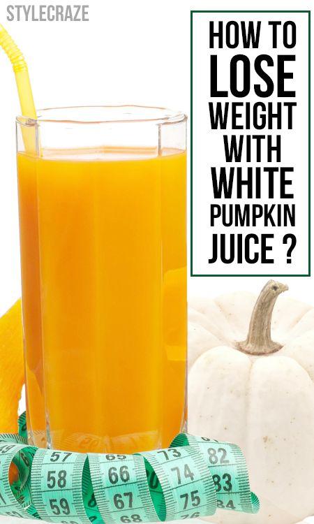 Comment perdre du poids avec du jus de citrouille blanc?