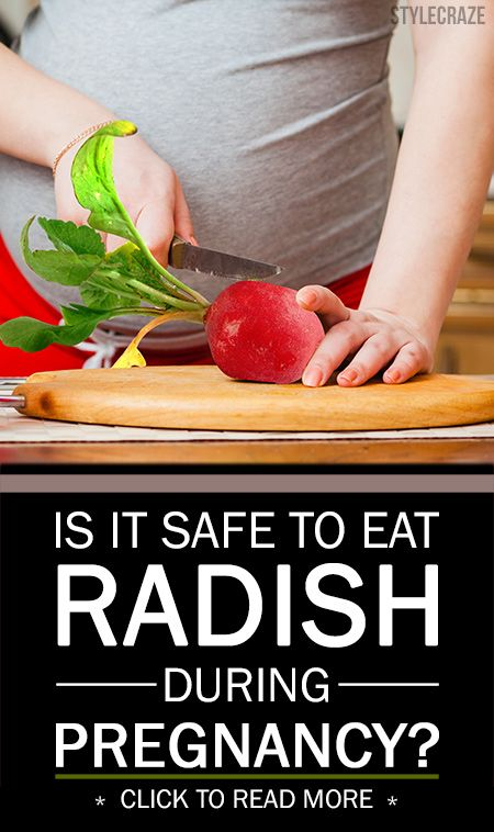 Est-il sûr de manger le radis pendant la grossesse?
