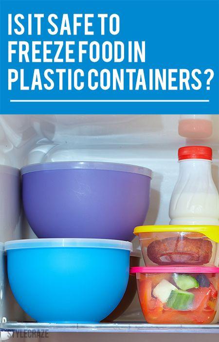 Est-il sécuritaire de congeler les aliments dans des contenants en plastique?