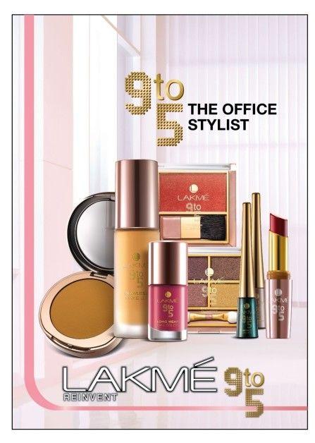 Lakmé 9 à 5 bureau gamme de maquillage styliste: produit et liste des prix