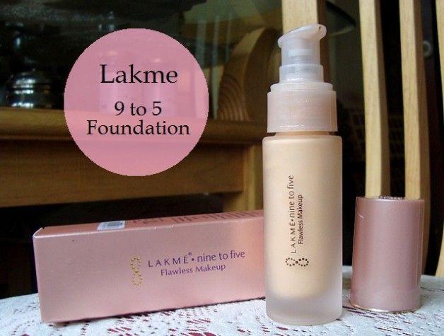 Lakmé neuf à cinq nuanciers sans faille de maquillage et fondation examen