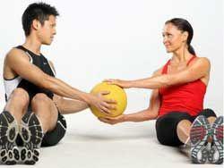 Séances d`entraînement de médecine-ball