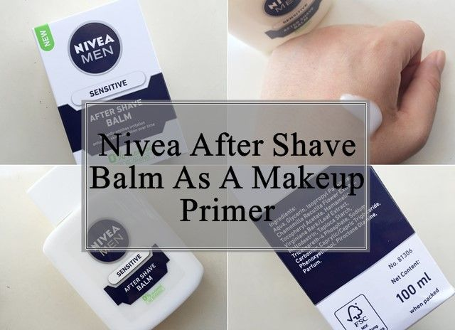 Hommes nivea baume après rasage comme apprêt de maquillage: examen, comment utiliser