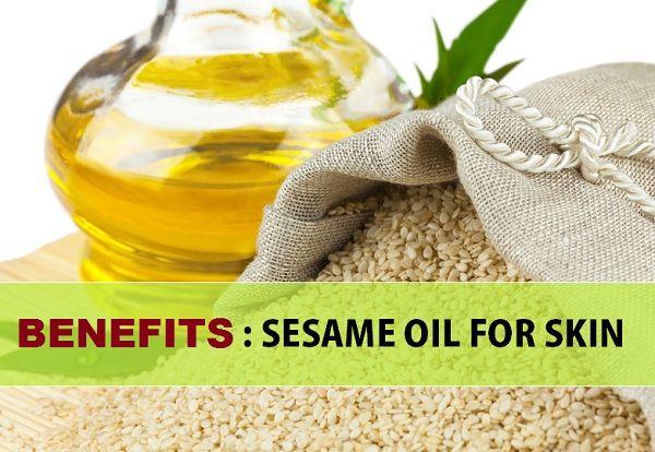 Avantages de l`huile de sésame pour la peau