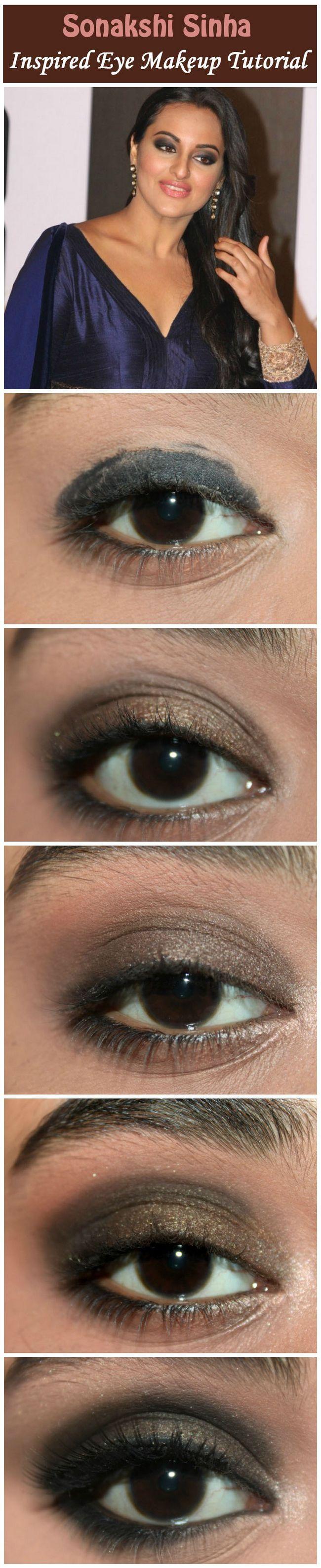 Le maquillage des yeux inspiré Sonakshi de Sinha - tutoriel avec des étapes détaillées et des images