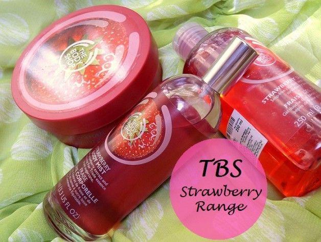 The Body Shop Critiques Catégorie de fraises: beurre corporel, brume pour le corps, gel douche