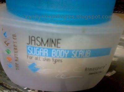 Corps de sucre de jasmin société de scrub- de la nature vous rend heureux de se baigner!