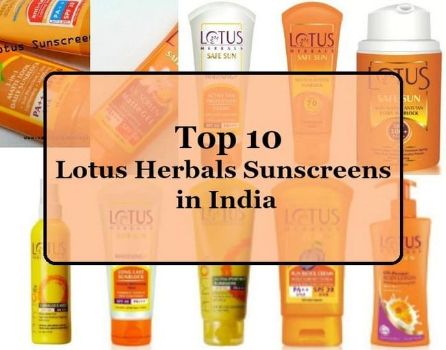 Top 10 Herbals lotus écrans solaires disponibles en Inde