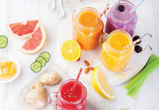 Ingrédients haut pour un smoothie bien équilibré