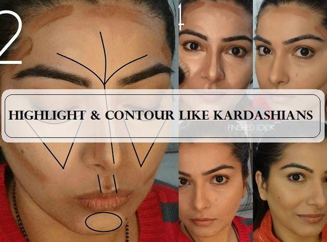Tutoriel: comment le contour et mettre en valeur votre visage comme kardashians