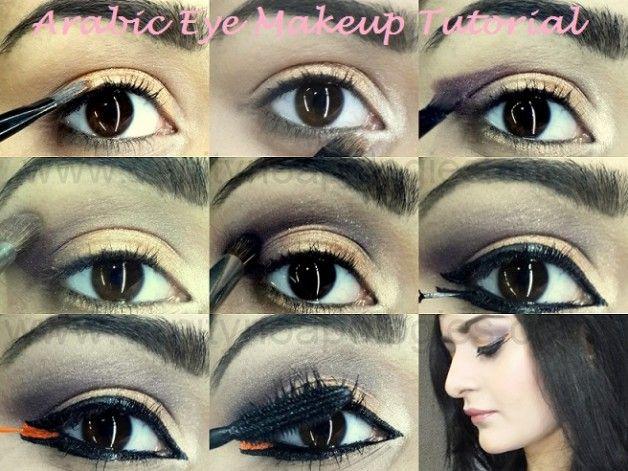 Tutoriel: comment faire look maquillage des yeux gras arabe