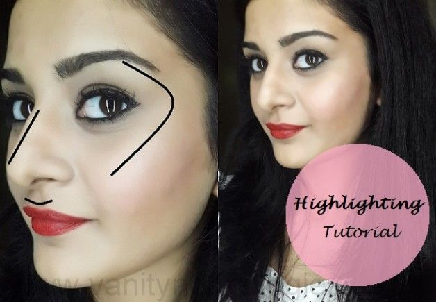 Tutoriel: comment mettre en évidence le visage (étapes + produits de maquillage utilisés)
