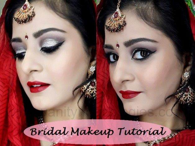 Tutoriel: look maquillage de mariée indienne / Pakistanaise (argent Smokey dramatique)