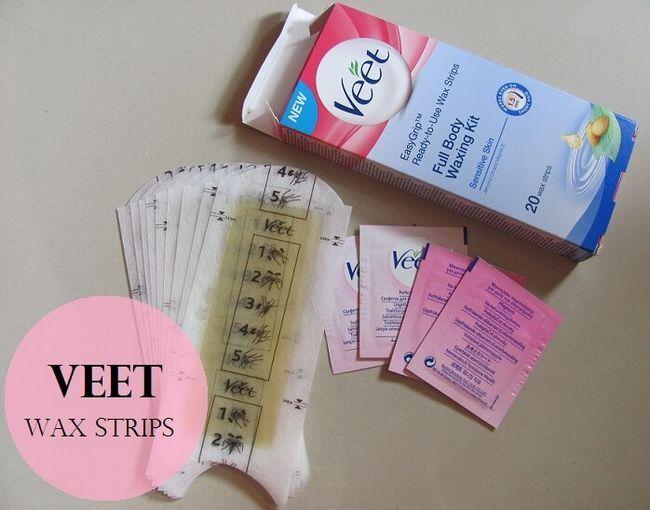 Veet prêt à utiliser des bandes de cire kit de fartage complet du corps: examen, démonstration