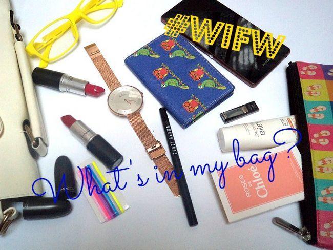 Ce qui est dans mon sac: Fitch édition de la semaine de mode de vie de la mode en Inde!