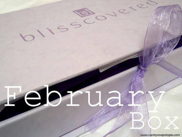 Ce qui est dans ma boîte de février 2012 blisscovered? Donnez votre avis et les photos